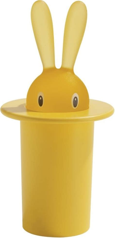 Alessi Magic Bunny Toothpick Holder   Yellow by Stefano