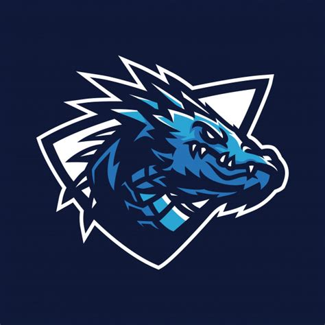 dragon esport gaming mascot logo template vector premium