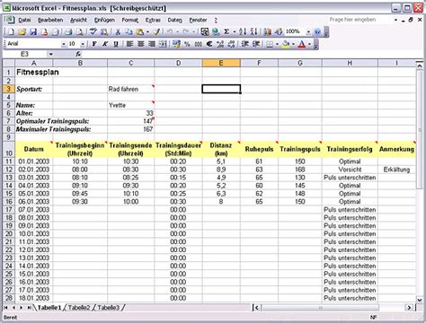 trainingsplan vorlage excel exemple cv etudiant