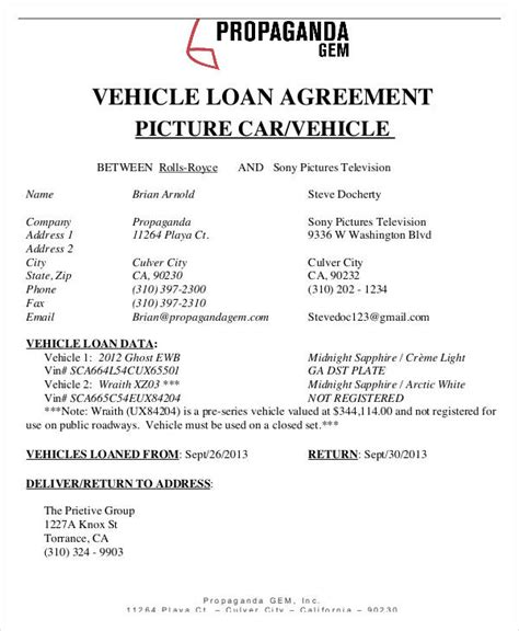 35+ Loan Agreement Forms In Pdf