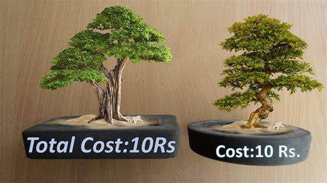 artificial bonsai tree diy attack cement mini bonsai pot