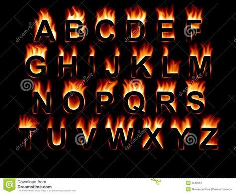fire font stock image image