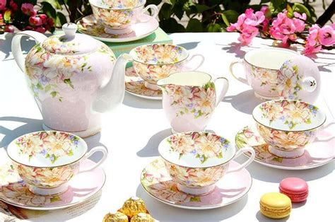 creamer and sugar bowl set royal bone china tea set coffee set 15 pieces floral