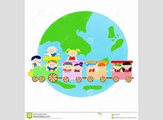 AEC Asian Kids On The Train Stock Vector Image 31290878