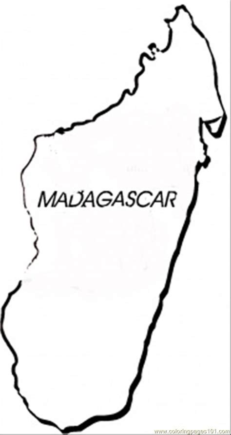 madagascar coloring page  africa coloring pages
