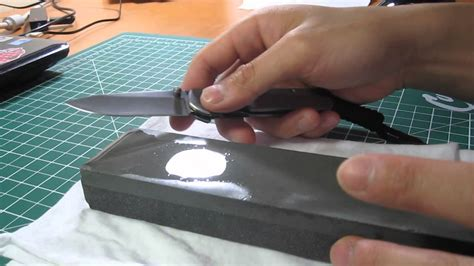 How To Sharpen A Folding Knife  Youtube