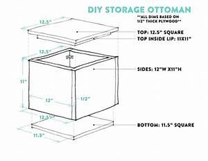 Diy Tutorial  How To Make A Diy Storage Ottoman  U2013 Part 1