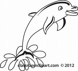 Dolphin Outline Clip Art (53+)