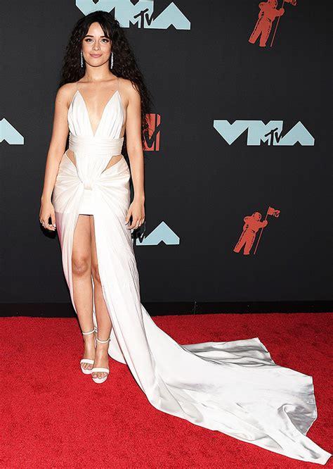 Camila Cabello Vmas Plunging White Dress