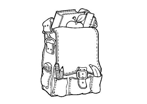 Rugzak Kleurplaat by School Backpack Coloring Page