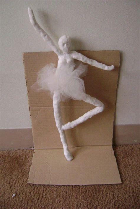 ballerina  clay character molding  cut