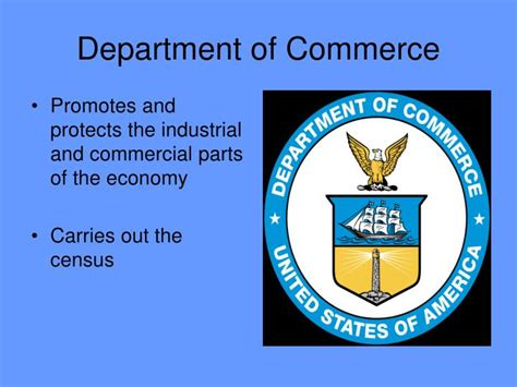 commerce bureau ppt the president s cabinet powerpoint presentation id