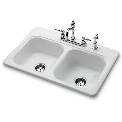 white ceramic kitchen sinks bootz industries garnet ii drop in porcelain 22 in 4 1275