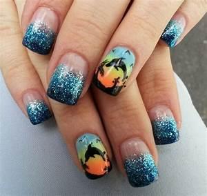 Dolphin nails | Nails by Janayna | Pinterest | Dolphin ...