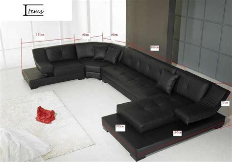 canape panoramique cuir salon denver canape cuir 6 7 places 375x231x180