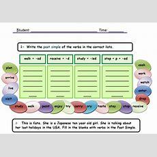 Past Simple  Regular Verbs Table