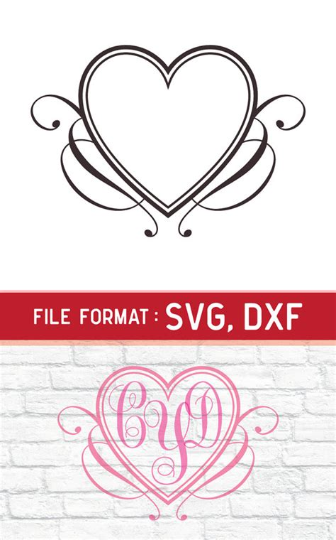 svg love monogram cricut files vinyl cutters couples svg