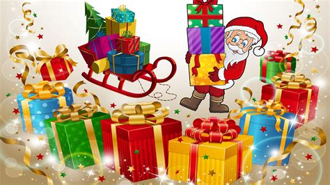 Santa Claus-christmas Gifts For Children-sledge-greeting