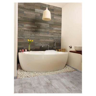 Home Depot Marazzi Reclaimed Wood Look Tile by Marazzi Montagna Wood Weathered Gray 6 In X 24 In