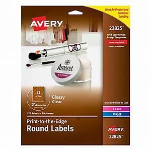 avery easy peel inkjetlaser glossy clear round labels 2 With avery clear round labels