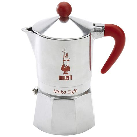 Just fill the base with water and the filter with ground coffee or espresso, and place on any heating surface. Bialetti, 06786, Moka Cafe 3 cup, Stove Top Espresso Maker, Red | eBay