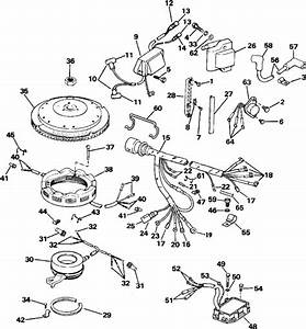 Johnson Ignition System Parts For 1987 90hp J90tlcur