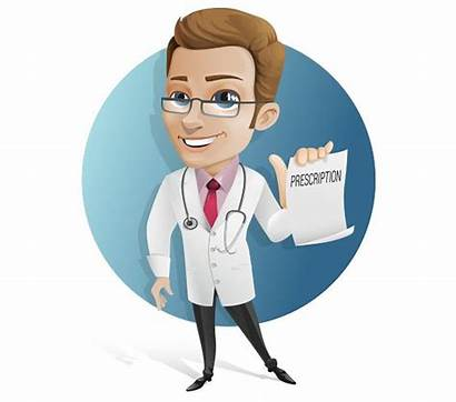 Vector Doctor Cartoon Character Holding Help Female