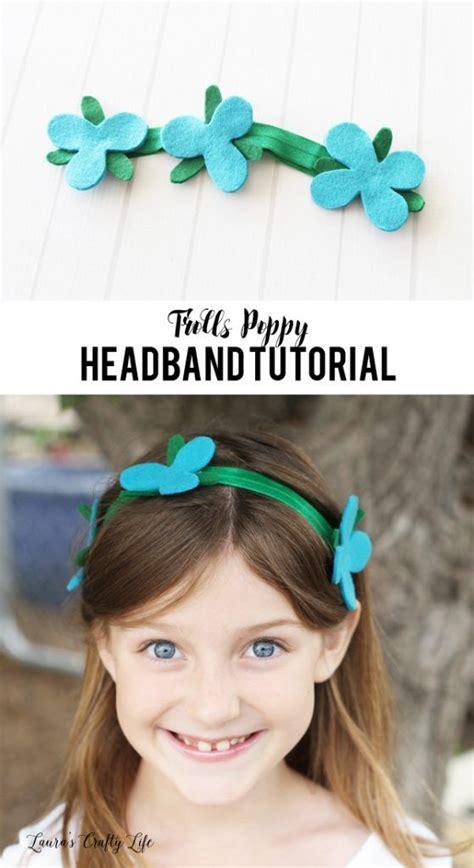 Troll Poppy Headband Template by No Sew Trolls Poppy Headband Tutorial Headband Tutorial
