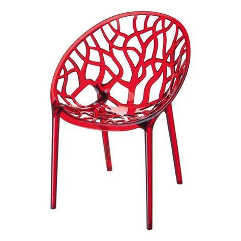 chaises polycarbonate chaise design en polycarbonate 4 pieds