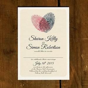 fingerprint heart wedding invitation set on luxury card With modern luxury wedding invitations uk