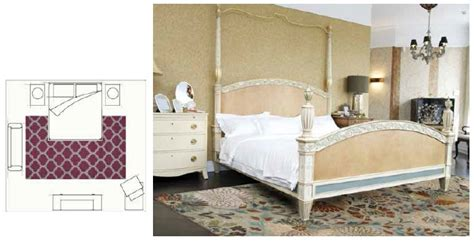 bedroom area rugs how to select an appropriately sized area rug hmd
