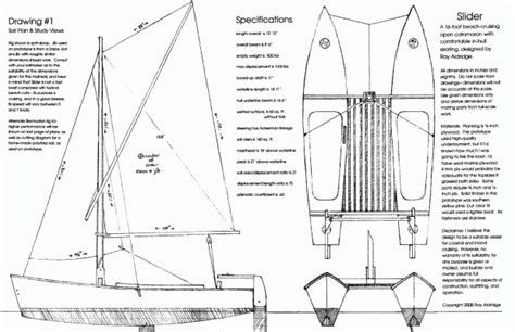 catamaran plans diy biili boat plan