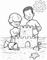 Sandcastle Sabbia sketch template
