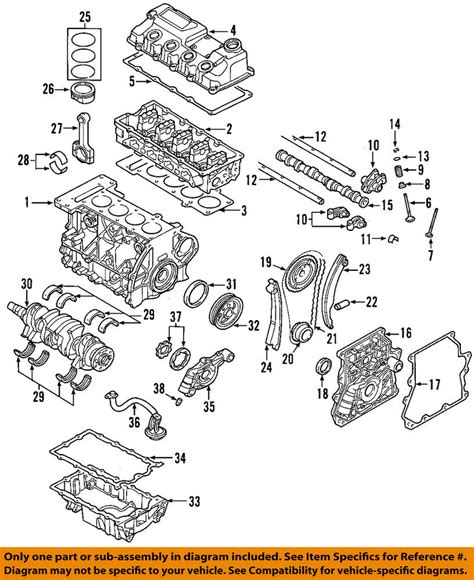 2013 Mini Cooper Engine Diagram by Mini Oem 02 06 Cooper Engine Valve Cover 11128658461 Ebay