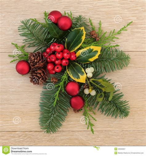 decoration de noel avec du houx d 233 coration florale de no 235 l image stock image du houx 43949357