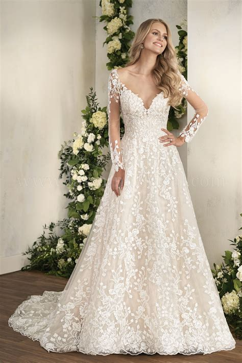 T202012 Illusion Neckline Embroidered Lace Ball Gown