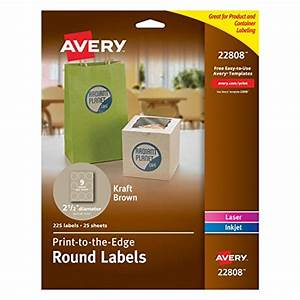 avery permanent print to the edge round labels laser With avery 1 5 round labels