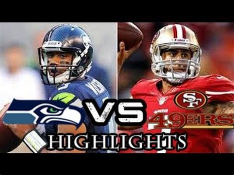 nfl playoffs seattle seahawks  san francisco ers