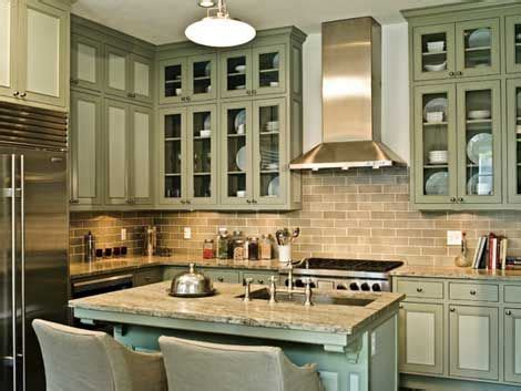 green kitchen cabinets cabinets green cabinets and green on Olive