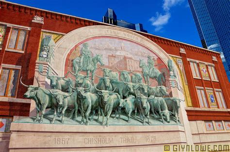 Fort Worth with Longhorns Bulls Mural - Texas | Chisholm ...