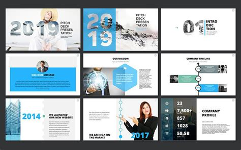 2019 pitch deck powerpoint template 65606