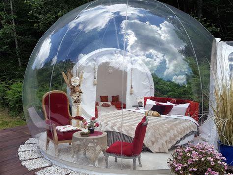 chambre bulles bulle transparente nuit en bulle nuit insolite