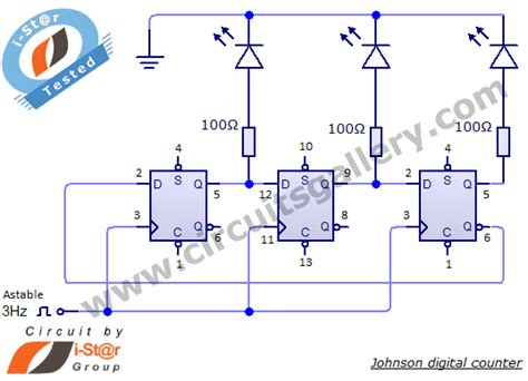 Johnson Digital Counter Circuit Diagram Using Flip Flop