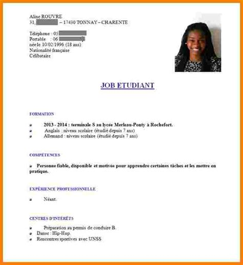 Exemple De Cv étudiant by 11 Comment Faire Un Cv 233 Tudiant Exemple Motivation