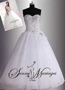 robe de mariage forme princesse blanche avec bustier coeur With robe de mariée princesse strass