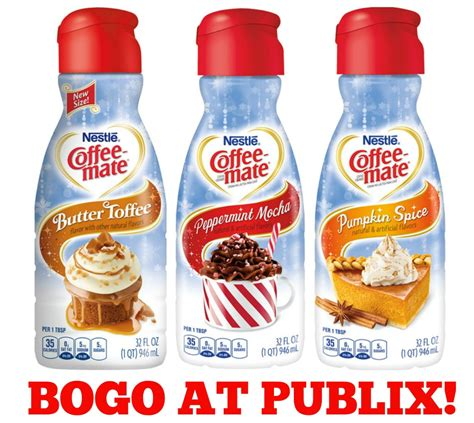 All coffee mate flavors will transform your morning cup of joe into a sweet escape. Stock Up With The Coffee-mate BOGO At Publix + TEN Readers Win A Publix Gift Card - Daily Dealing
