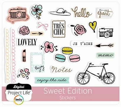 Stickers Sweet Edition Project Digital Scrapbooking