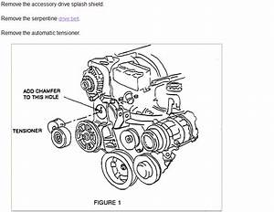 How Do I Remove The Serpentine Belt Tensioner Assembly On
