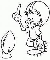 Coloring Football Printable Pages sketch template