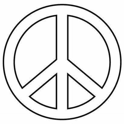 Peace Sign Coloring Pages Printable Number Printables